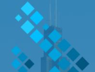 Sears tower with blue overlay
