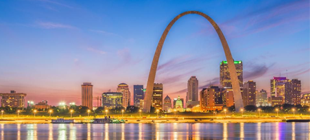 Public Affairs and Government Conference is in St. Louis and this is a picture of the St. Louis skyline signifying that.