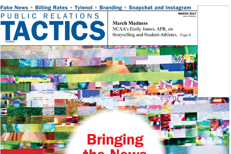 PRSA . Tactics Publication Cover
