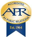 APR logo gold and blue
