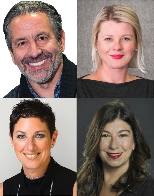 A 2x2 mosaic of the four panelist involved in the PRSA 2019 International Conference Global Agency Panel