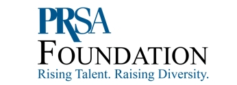 PRSA Foundation Diversity logo with the tagline Rising Talent. Raising Diversity.