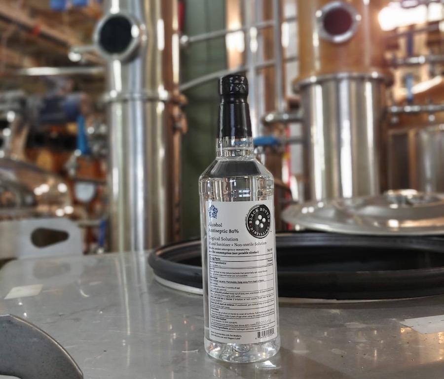 Black Button Distilling Hand Sanitizer_in Distillery1